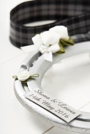 Lucky Charm_ Wedding Horseshoe made to order